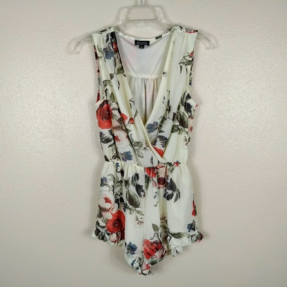 ae233f192e4e J for Justify Pants - J For Justify Sleeveless Ruffled Floral Romper